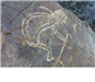 Man with cane rock art