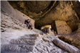 Cliff Dwellings couple sitting