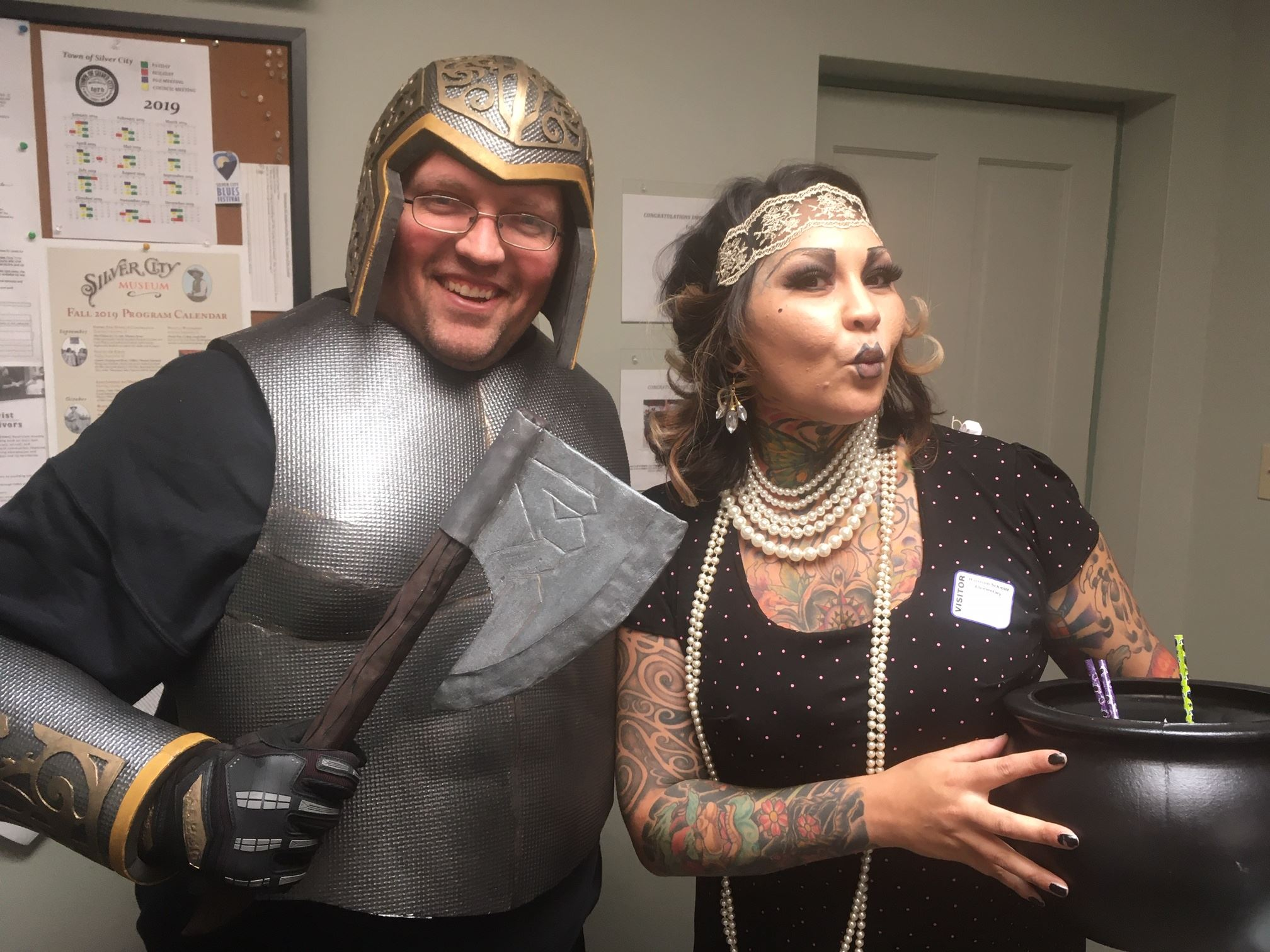 Joe and Veronica at a Halloween event