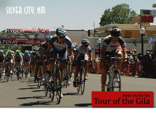Group of races in the Downtown Silver City Criterium