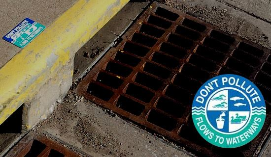 Labeled Storm Drain