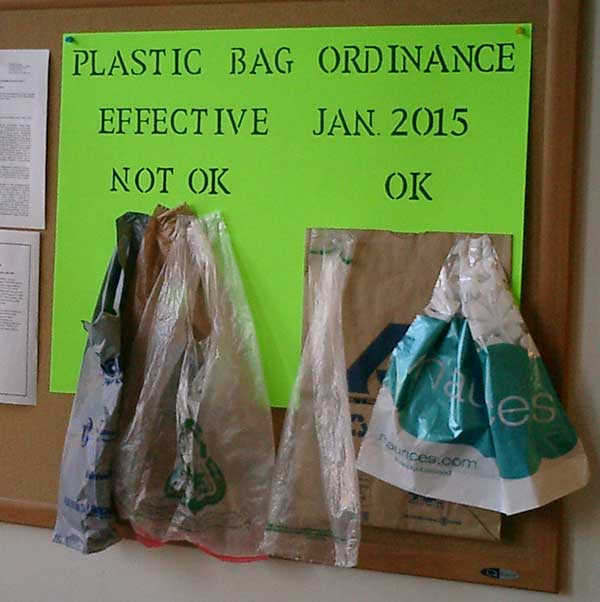 Plastic Bag Ordinance Display